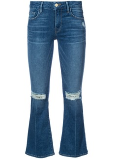 Frame Denim cropped flared jeans - Blue