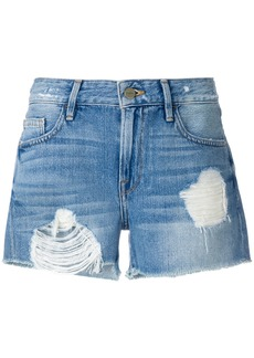 Frame Denim distressed shorts - Blue