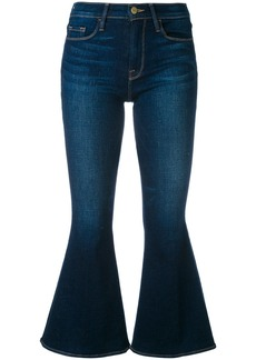 Frame Denim flared cropped jeans - Blue