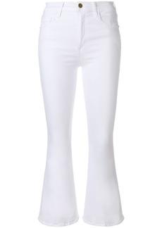Frame Denim flared high rise jeans - White