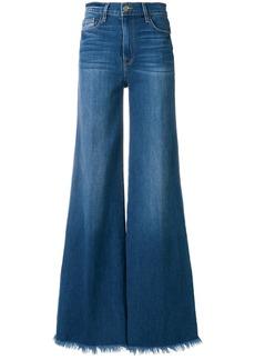 Frame Denim frayed-hem flared jeans - Blue