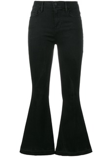 Frame Denim le crop bell flared jeans - Black