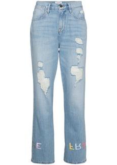 Frame Denim Le Embroidery boyfriend jeans - Blue