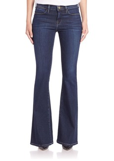 FRAME Le High-Rise Flared Jeans