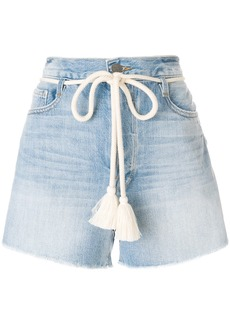 Frame Denim Le Original tassel tie shorts - Blue