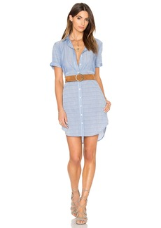 FRAME Denim Le Short Sleeve Shirt Dress