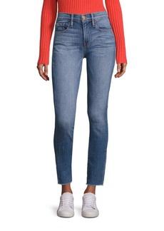 FRAME DENIM Le Skinny De Jeanne Raw Hem Skinny Jeans