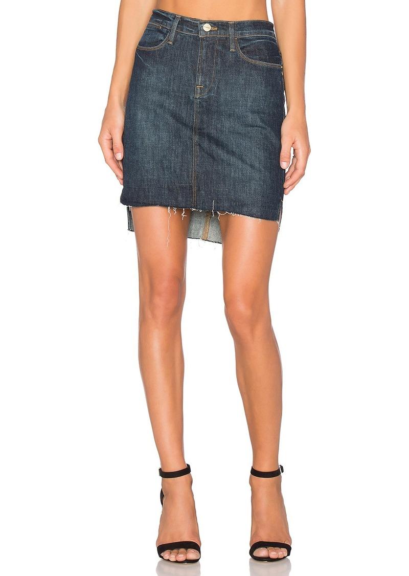 FRAME Denim Le Staggered Mini Skirt