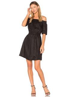 FRAME Denim Off the Shoulder Dress in Black. - size L (also in M,S,XS)