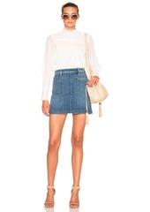 FRAME Denim Patch Pocket Skirt