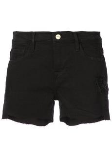 Frame Denim raw hem denim shorts - Black