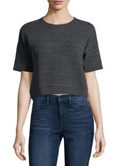 FRAME Short-Sleeve Crewneck Crop Top