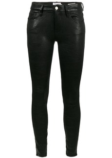 Frame Denim Skinny Lambskin trousers - Black