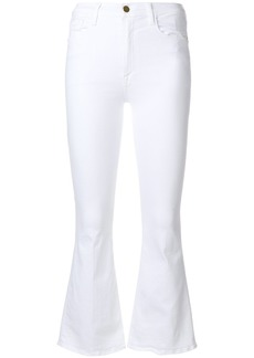 Frame Denim slim-fit flared jeans - White