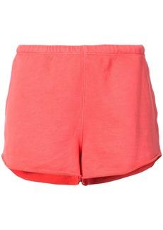 Frame Denim Terry track shorts - Pink & Purple