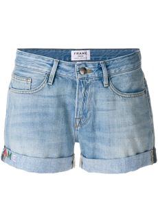 Frame Denim turned up hem shorts - Blue