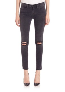 FRAME Distressed Skinny Jeans