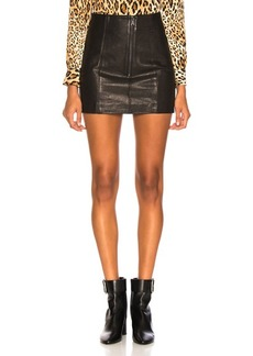 FRAME Double Zip Mini Skirt