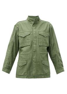 Frame Drawstring-waist cotton military jacket