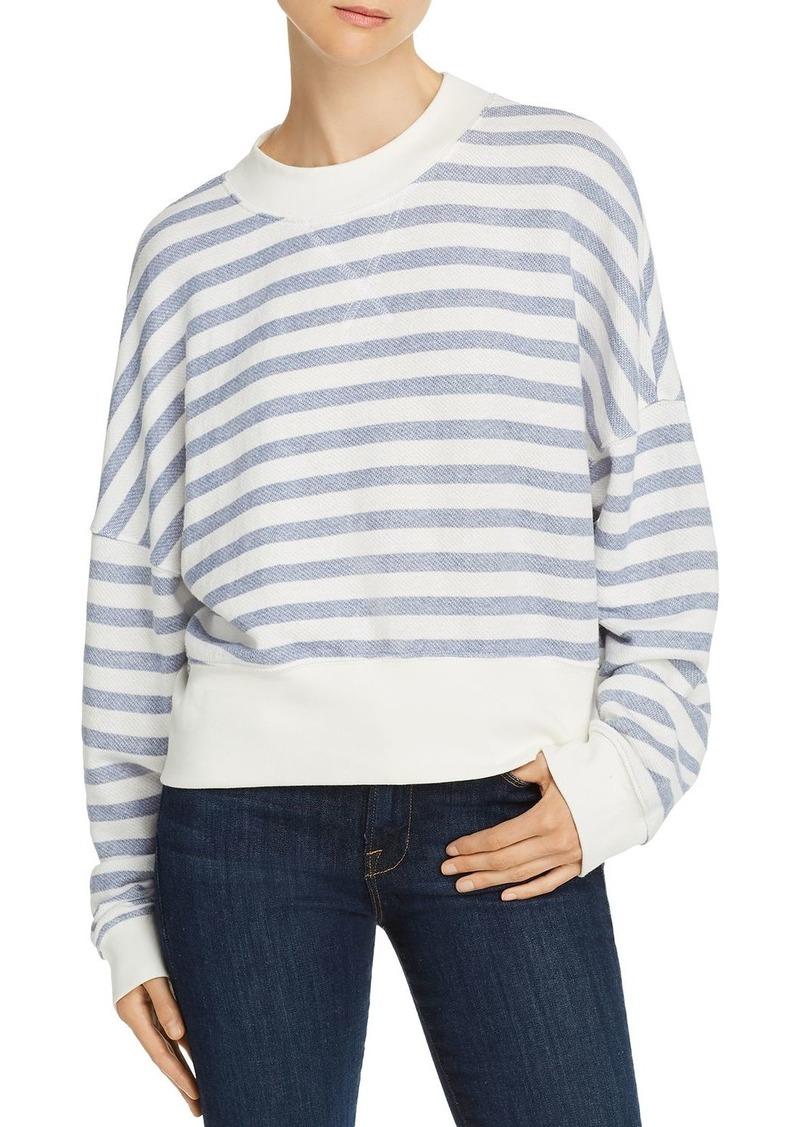FRAME Drop-Shoulder Striped Sweatshirt