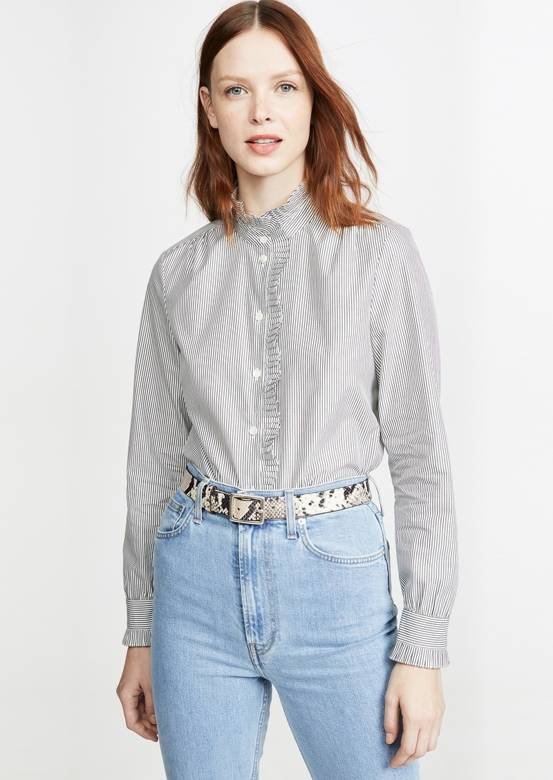 FRAME Easy Pleated Top