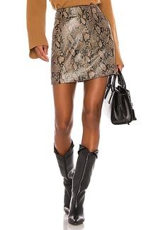 FRAME Embossed Leather Skirt