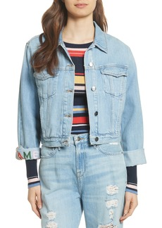 FRAME Embroidered Denim Jacket