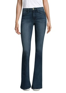 Exclusive High-Rise Medium-Wash Flare Jeans