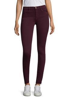 FRAME Le Skinny De Jeanne Oxblood Raw Hem Jeans