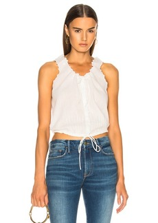 FRAME Eyelet Lace Up Top