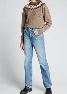 FRAME Fair Isle Wool Crewneck Sweater
