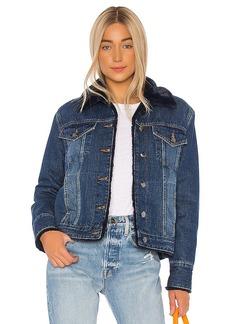 FRAME Faux Fur Lined Jacket