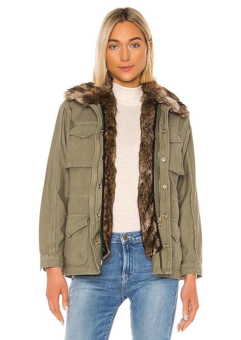FRAME Faux Fur Lined Service Jacket