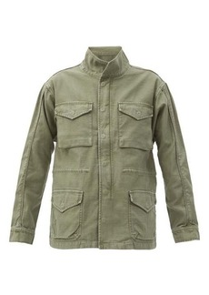 Frame Flap-pocket cotton utility jacket