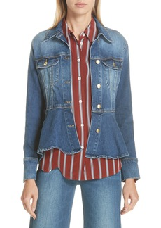 FRAME Flounce Denim Jacket