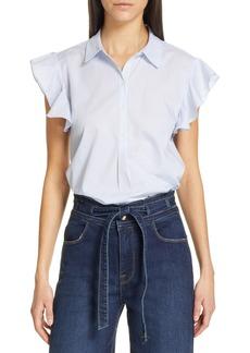 FRAME Flounce Sleeve Shirt