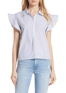 FRAME Flutter Sleeve Stripe Shirt