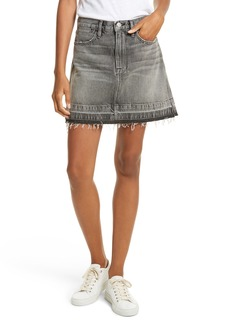 FRAME Frayed Hem Denim Skirt (Broderick Avenue)