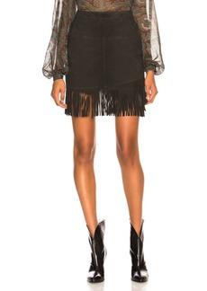 FRAME Fringe Overlay Skirt
