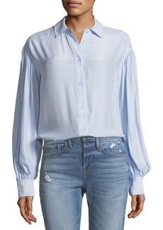 FRAME Full-Sleeve Button-Front Silk Shirt