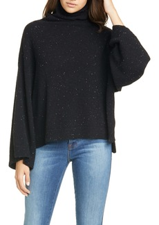 FRAME Funnel Neck Swing Cashmere Sweater