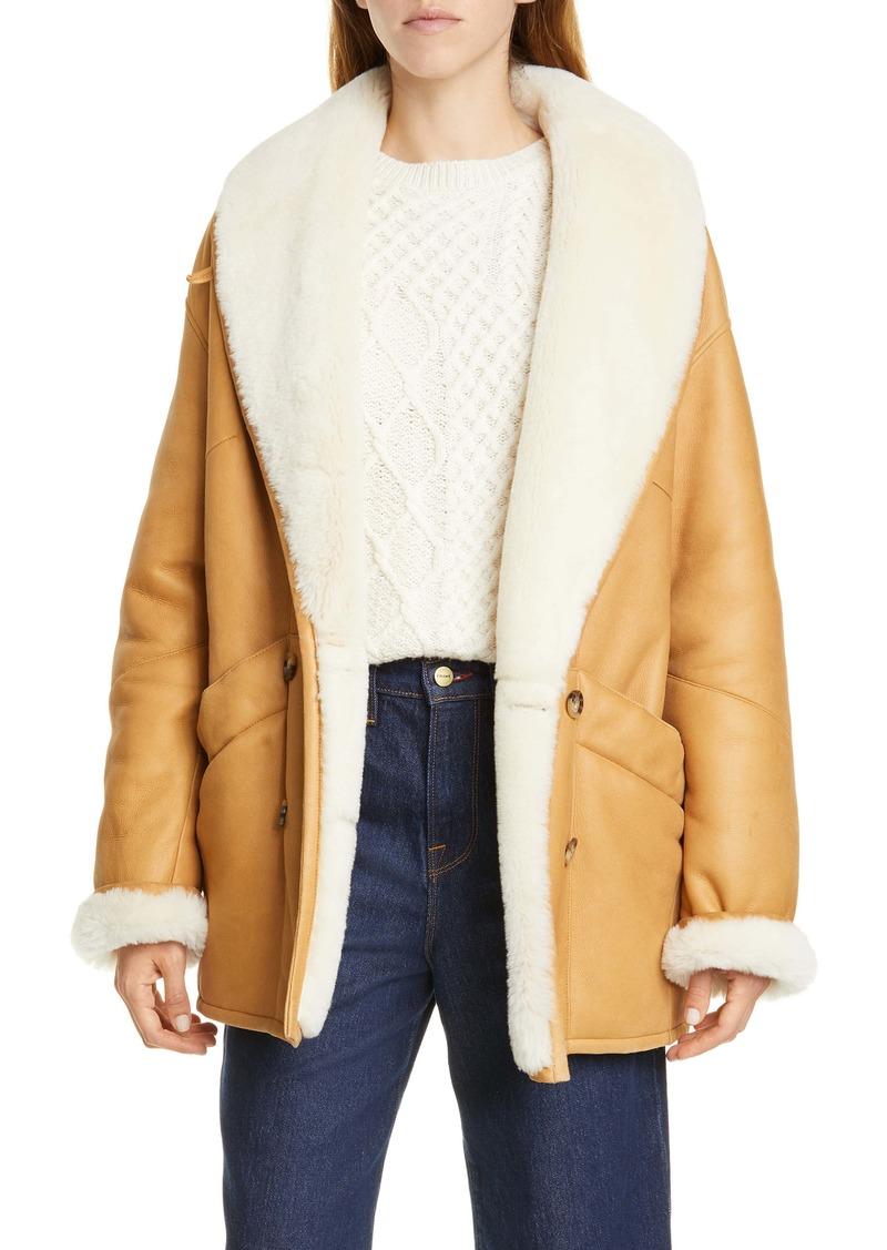 FRAME Genuine Shearling Cocoon Coat