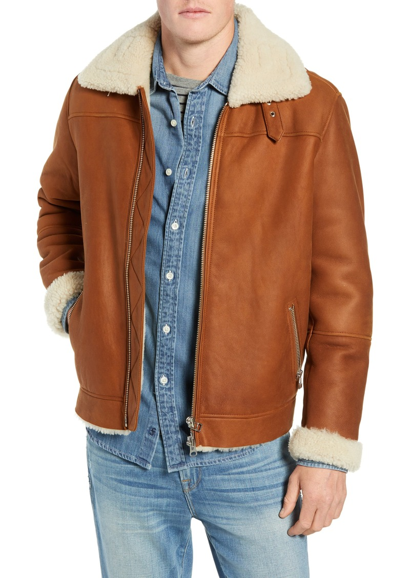 FRAME Genuine Shearling Flight Jacket