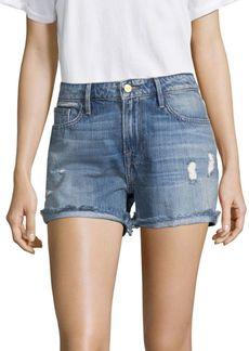 FRAME Grand Garcon Rivet Denim Shorts