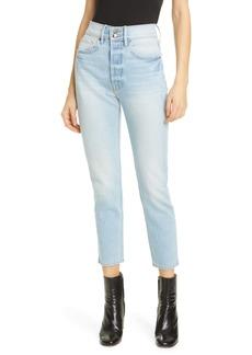FRAME Heritage Original High Waist Ankle Skinny Jeans (Artesia Sand)