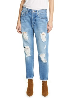 FRAME Heritage Original Ripped High Waist Ankle Jeans (Bellflower Rips)