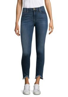 Hi-Rise Frayed Skinny Jeans