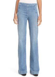FRAME High Waist Flare Sailor Jeans (Walsh)