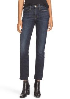 FRAME High Waist Staggered Hem Jeans (Northern)