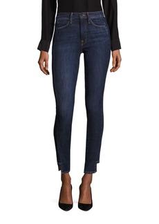 FRAME High-Rise Step Hem Skinny Jeans